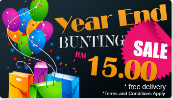 Year End Sale  - Only RM15.00!!!